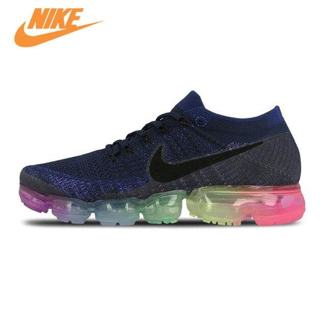 Original Nouvelle Arrivée Officiel Nike Air VaporMax Être Vrai Flyknit  Respirant Hommes de Chaussures de Course