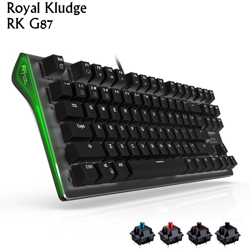 Royal Kludge Rk G87 Usb Wired White Backlit Ergonomic Mechanical Gaming Keyboard Cherry Rk Black Blue Brown Red Axis Keyboards Aliexpress