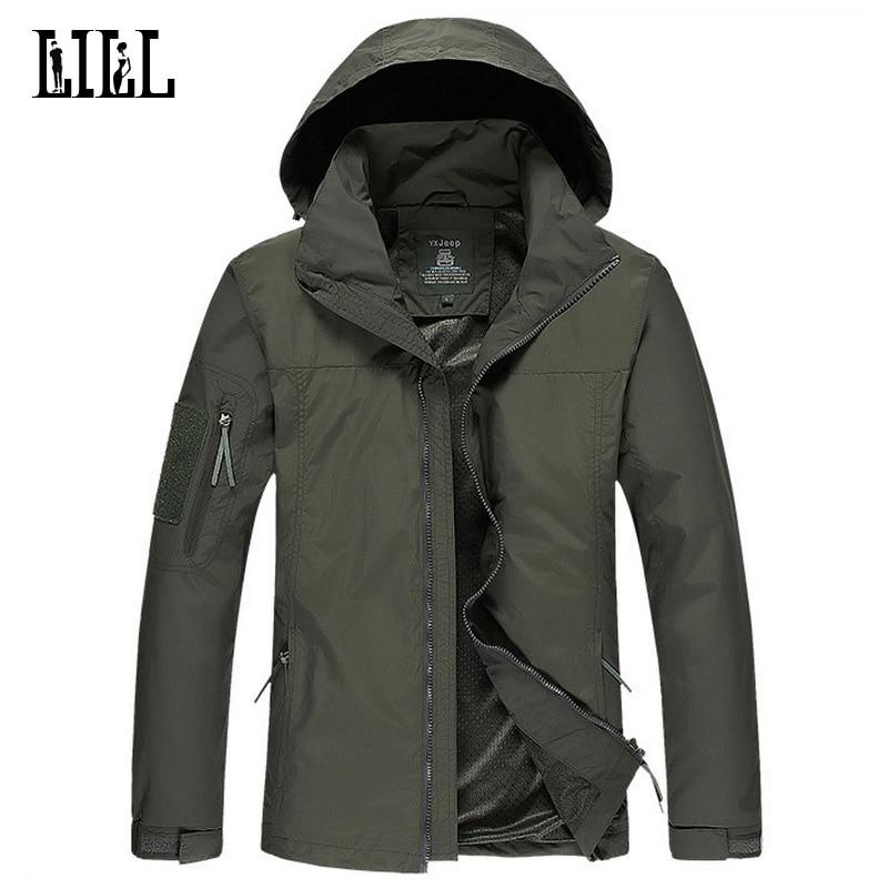LILL | Wasserdichte männliche Jacke Falten Hut Männer Armee Mantel Militärischen Stil Windjacke Dünne Camouflage Jacken Mit Kapuze, UA224