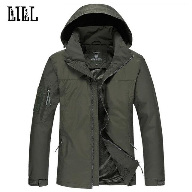 LILL | Waterproof Male Jacket Folding Hat Men Army  Coat Military Style  Windbreaker Thin Camouflage Jackets Hooded,UA224