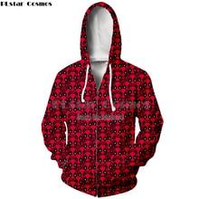 PLstar Cosmos Deathmaid Harajuku Style New style Hooded zipper Hoodie Sweatshrit Women/Mendrop shipping