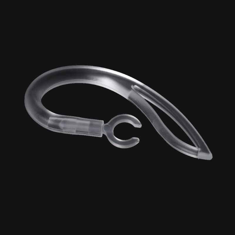 1 piezas./2 piezas. Auriculares Bluetooth de 7mm. Auriculares transparentes suaves de silicona con gancho para la oreja