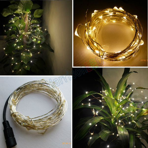 5m10m led copper wire string holiday strip lights dc12v dc plug 5m10m led copper wire string holiday strip lights dc12v dc plug warm white micro rope lighting starry christmas wedding lamp in led strips from lights aloadofball Image collections