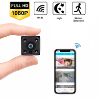 HD 1080P WiFi mini camera with Auto Night Vision Nanny micro Cam Home Office Surveillance Security Camera Motion Detection Alarm