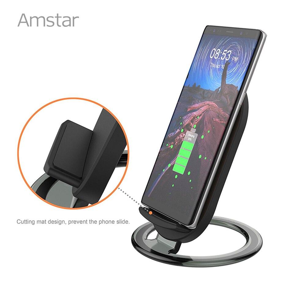 Amstar Airpower Drahtlose Ladegerät 10 W Schnelle Drahtlose Lade Für Samsung S9 S8 Note9 Für Iphone X Xs Max Xr 8 Apple Uhr 4 3 2 1 Handy-zubehör