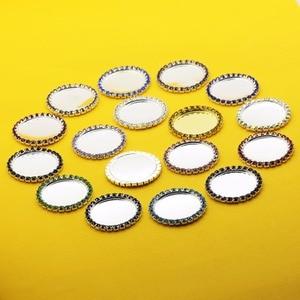 Image 4 - 100 sztuk/zestaw, średnica wewnętrzna 25 MM, metalowe guziki z kryształu górskiego, taca na otwieracz butelek, pokrywa klucza, DIY wykonane ręcznie dekoracyjne akcesoria
