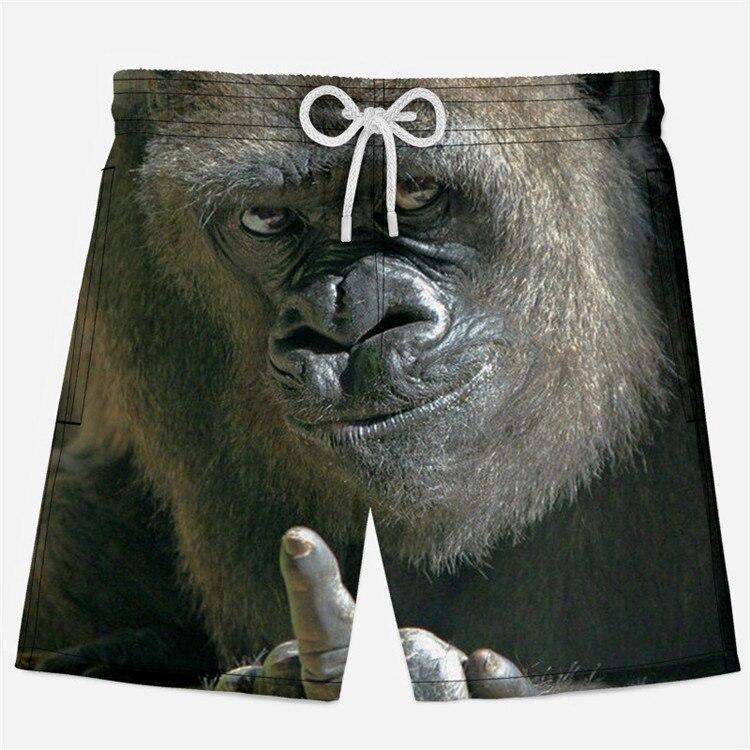 3D Animal Printed Shorts Men Funny Shorts Elastic Waist Boys Short Sweatpants Summer Casual Beach Shorts Size XS-4XL
