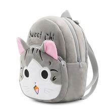 1-3 years Lovely Plush Backpacks Cartoon Chi's Cat Plush Flip-open Cover Kindergarten Backpack Soft Bag for Children Kids Girls