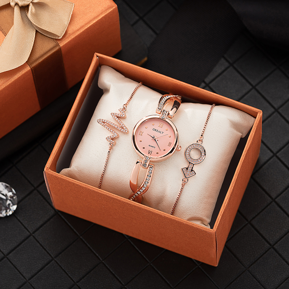 2019 New women's fashion wrist watches with jewelry pendant