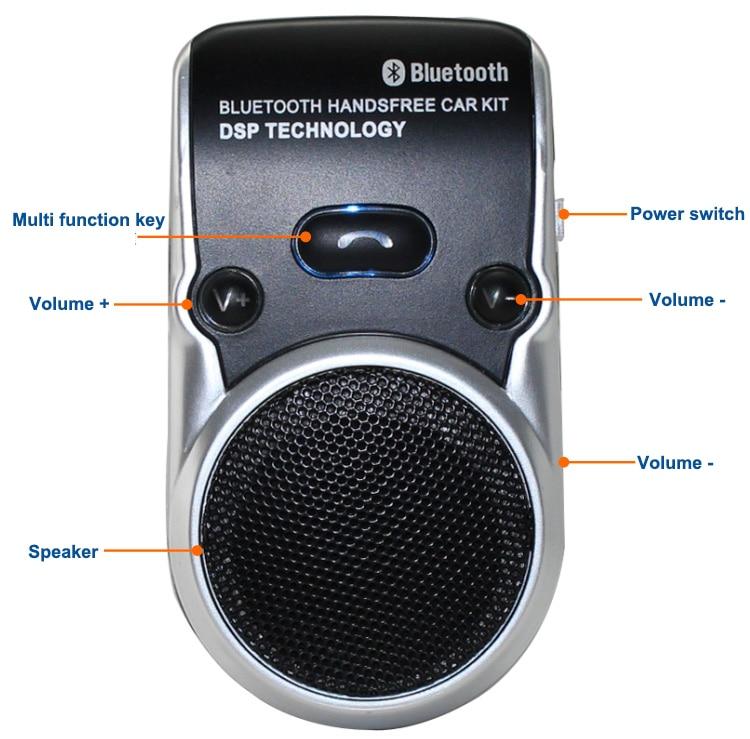 Siparnuo op zonne-energie Bluetooth Carkit Handsfree - Auto-elektronica