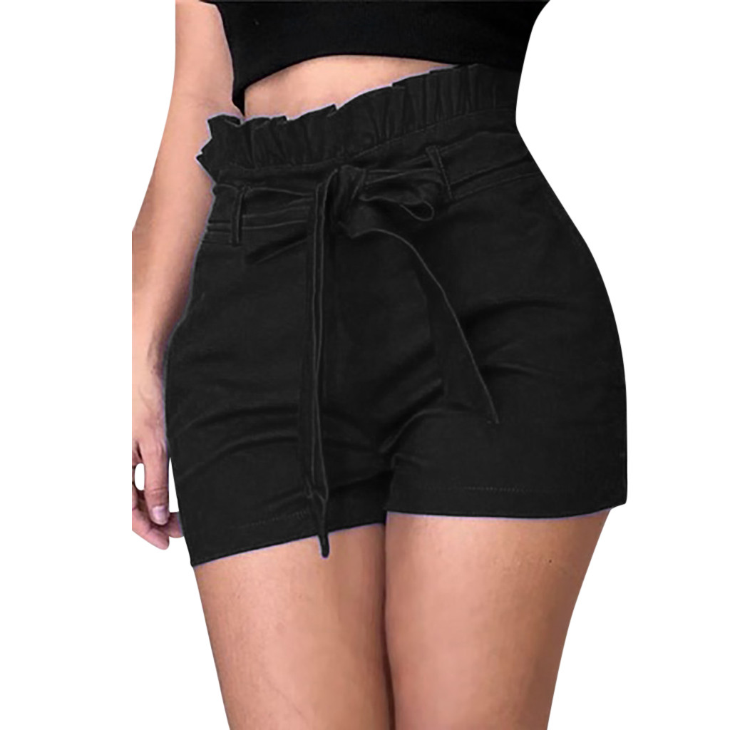HTB1.aRDb8OD3KVjSZFFq6An9pXaj - Fashion Shorts Women Plus Size Femme Summer High waist Shorts ladies Sexy Slim Short Pants Elastic Waist Loose Shorts
