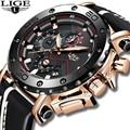 2019 LIGE новые топовые мужские часы Оригинальный чехол часы с большим циферблатом мужские повседневные кожаные деловые спортивные наручные ч...