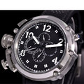 47mm parnis black dial solid ss week day date multifunction automatic mens watch P17