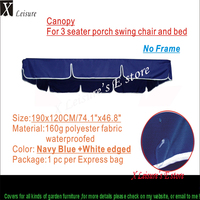 Free Shipping Excellent Navy Blue Canopy For Replacement Furniture Cover Swing Chair Cover C190