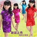 Envío gratis! Cheongsam chino para Grils China tradicional vestido para niños vestido de una pieza para los niños