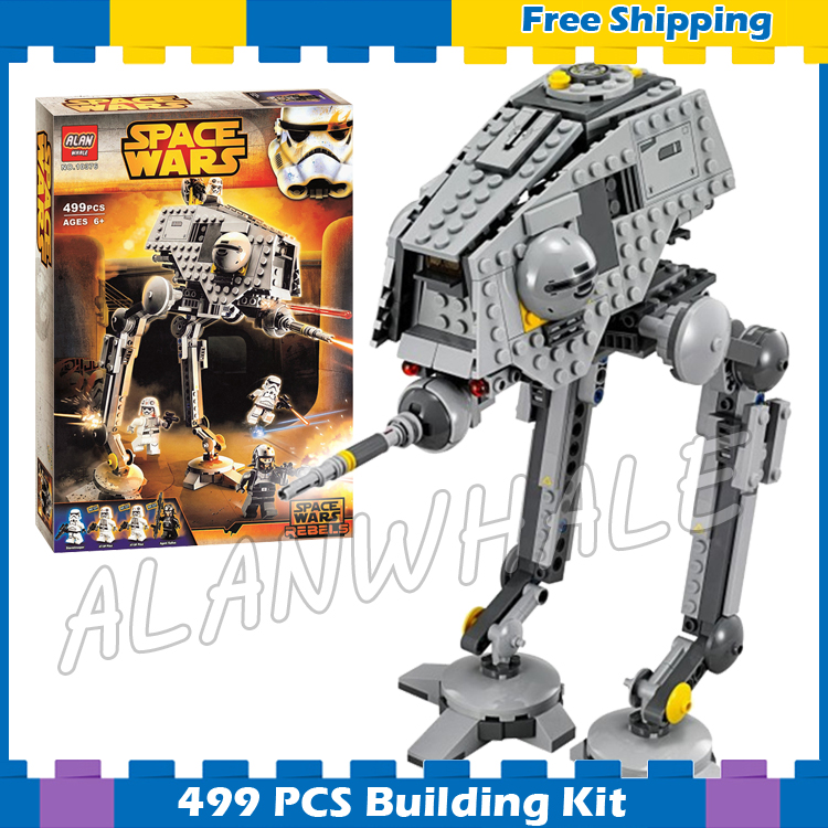 499pcs New Space Wars AT-DP Robots 10376 Model Building Blocks Sets Gift Rebels animated TV series Bricks Compatible With Lego kazi 608pcs pirates armada flagship building blocks brinquedos caribbean warship sets the black pearl compatible with bricks