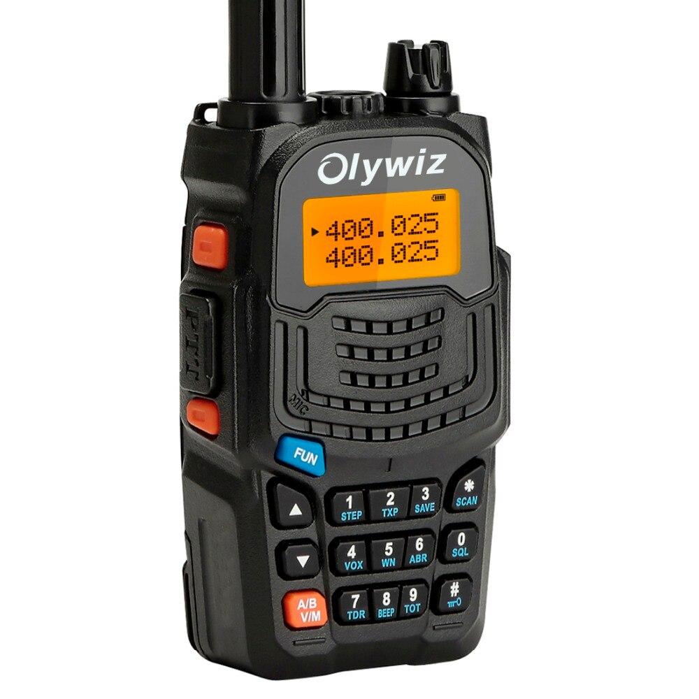 Olywiz Walkie Talkie Professional Transceiver 5W Two Way Radio 128CH 136-174MHZ{VHF}406-470MHZ{UHF} walkie talkie two way radio