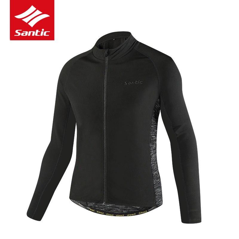 Maillot de cyclisme Santic homme à manches longues polaire thermique veste de vélo chaude vêtements vélo descente manteau maillot ciclismo Ropa