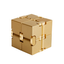 Metal Infinite Cube Premium Infinity Fidget Toy Aluminium Deformation Magical Toys antistress toy in office