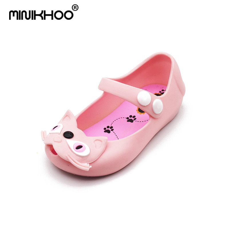 Mini Melissa 2018 New Summer Girls Sandals Jelly Shoes Mini Children Sandals Girl Sandals Mini Melissa Shoes Black High Quality