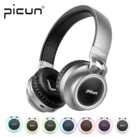 Picun P60 Bluetooth Headphone Bass Wireless Headset 7 Colors Glow With MIC Support TF Card For Phone For Xiaomi For iPhone PC