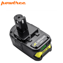 Powtree для Ryobi 6000 mAh 18 V P108 Li-Ion высокой Ёмкость Мощность инструмент замены батареи RB18L40 BPL1820 P107 P104 для ONE + BIW180