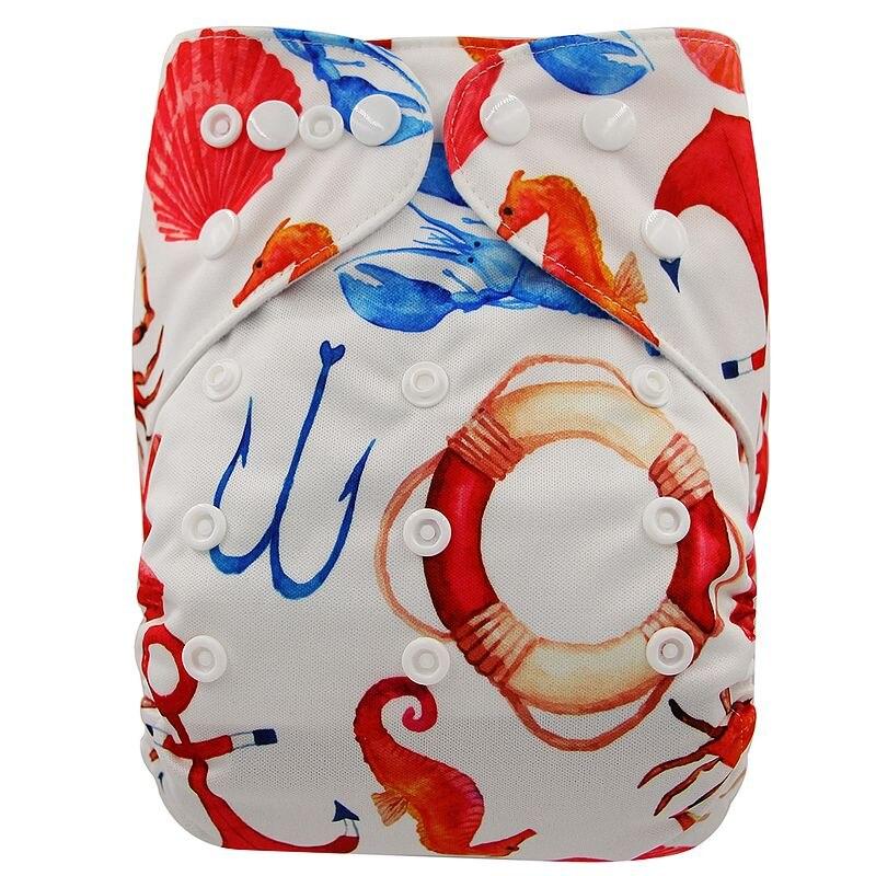 Ohbabyka, детские тканевые подгузники, многоразовые подгузники, унисекс, детские штаны для ухода за ребенком, водонепроницаемые тканевые подгузники с карманами, детские подарки для душа - Цвет: OB182