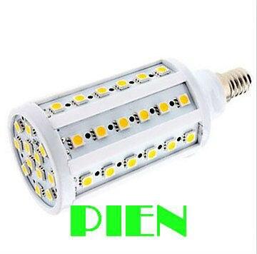 E27 E14 12W LED lamp bombillas 5050 SMD 60 LED corn light 360 degree high Power Warm white 220V 110V CE&ROHS by DHL 100pcs/lot