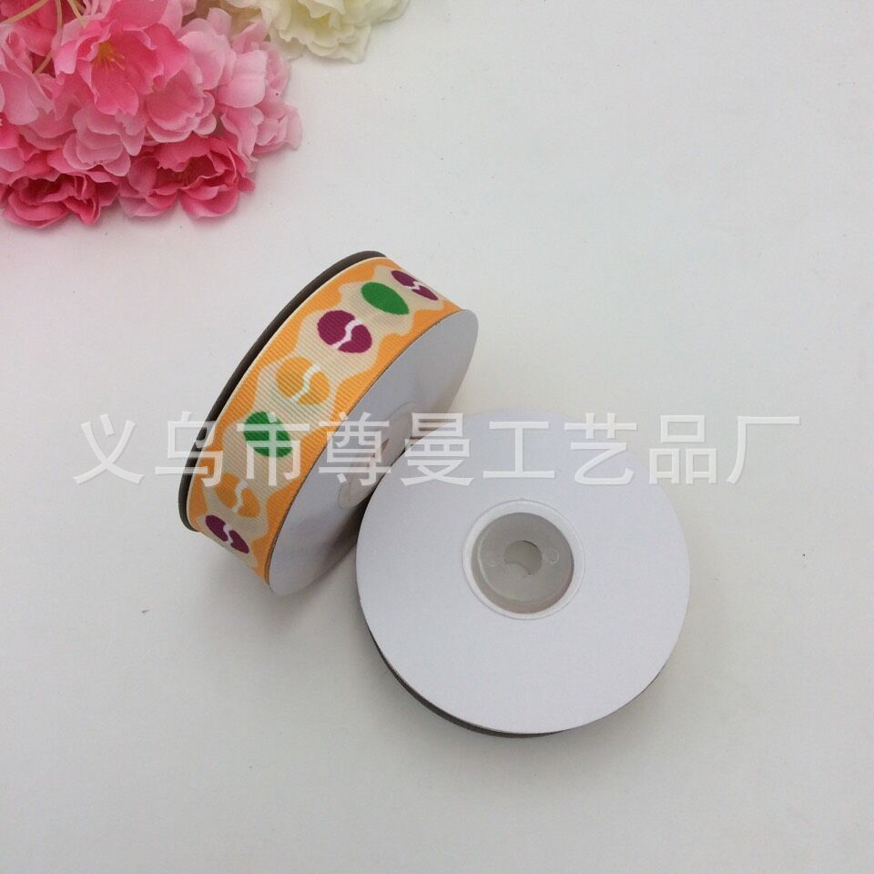 Ribbon DIY Material Width 2 5cm Digital Printing Sublimation Sublimation Thread Easter Series Ribbon Gift Box Packaging Supplies in Webbing from Home Garden