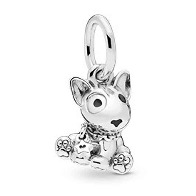 ใหม่ล่าสุดแมวหวาน Bull Terrier Bulldog Labrador ลูกสุนัขลูกปัดยุโรป Pandora ผู้หญิง Charms Charms สร้อยข้อมือและจี้