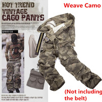 9 Colors Mens Military Army Camouflage Cargo Pants Multi Pocket Causal Straight Long Baggy Loose Tactical