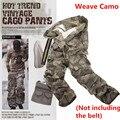 9 cores militar camuflagem carga calças de bolso casuais calças retas de carga calças táticas ( sem cinto )