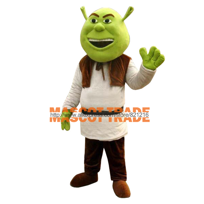 New Shrek Mascot Costume Adult For Halloween Free shipping