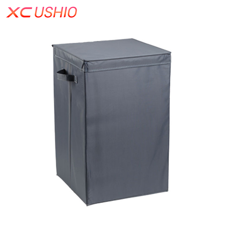 M/L Size Clothes Storage Bins Folding Clothing Blanket Sundries Organizer  Storage Box With Handles