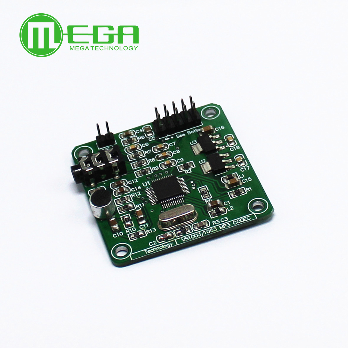 VS1003B MP3 Decoding Module Carrier Microphone STM32 Development Board Accessory