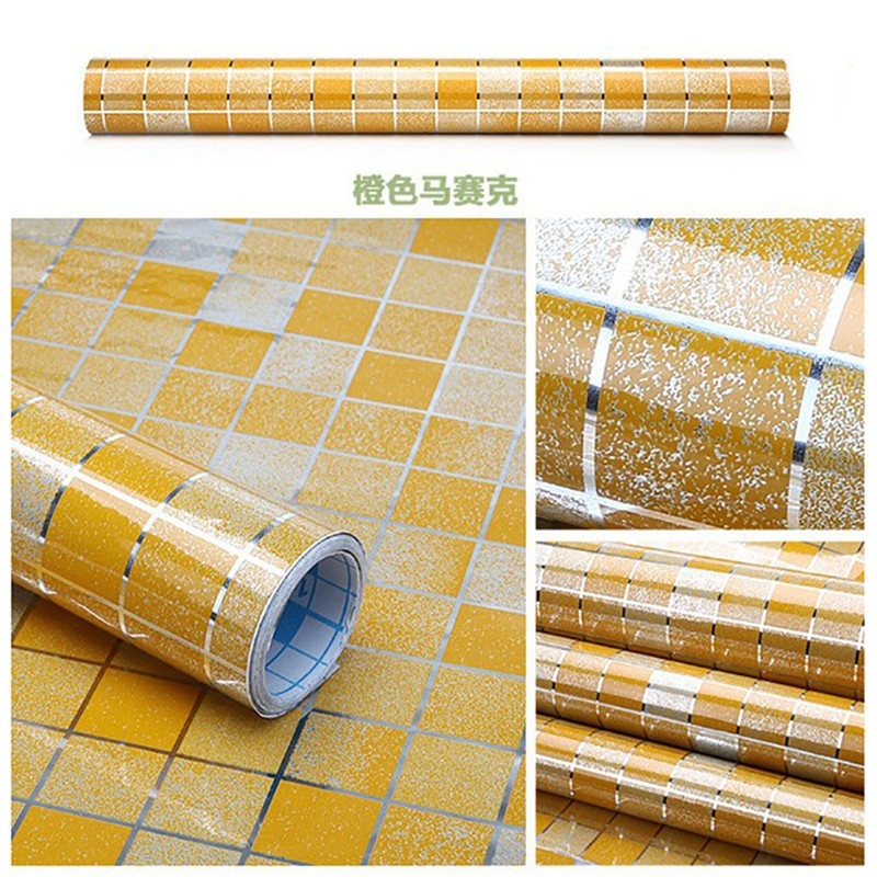 HTB1.aT7NpXXXXbWaXXXq6xXFXXXM - Waterproof Mosaic Aluminum Foil Self-adhesive Anti Oil Kitchen Wallpaper