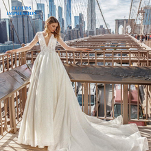 CLOUDS IMPRESSION Sexy 2019 A Line Wedding Dress
