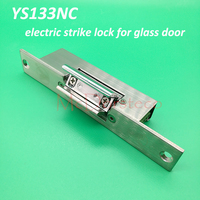 Fail Safe Yli האיכות הטובה ביותר Strike מנעול חשמלי מתאים לדלת זכוכית YS 133NC מנעול בקרת גישת דלת חשמלית-במנעול חשמלי מתוך אבטחה והגנה באתר