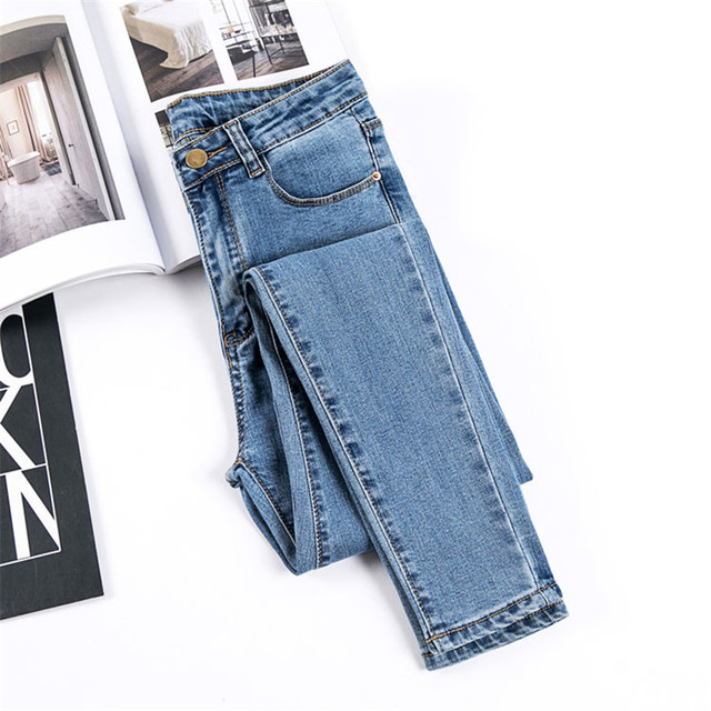 JUJULAND Jeans Female Denim Pants Black Color Women's Jeans Donna Stretch Bottoms Skinny Pants For Women Trousers 8175 2