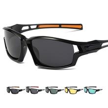 Kerékpáros szemüveg UV400 védelem polarizált napszemüvegek szélálló férfiak kültéri sportok közúti kerékpárhoz Kerékpárhálós halászüvegek S072E