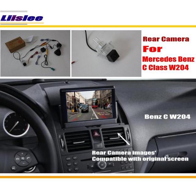 Liislee Arrière Vue Caméra/Caméra de Recul/RCA et Original écran Compatible/Pour Mercedes Benz Classe C W204 2012 2013 2014