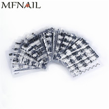 30 Sheet/lot White/Black Lace Nail Stickers,3D Mix Paper Wave Water Transfer Sticker,Random Decals Art DIY Decoration