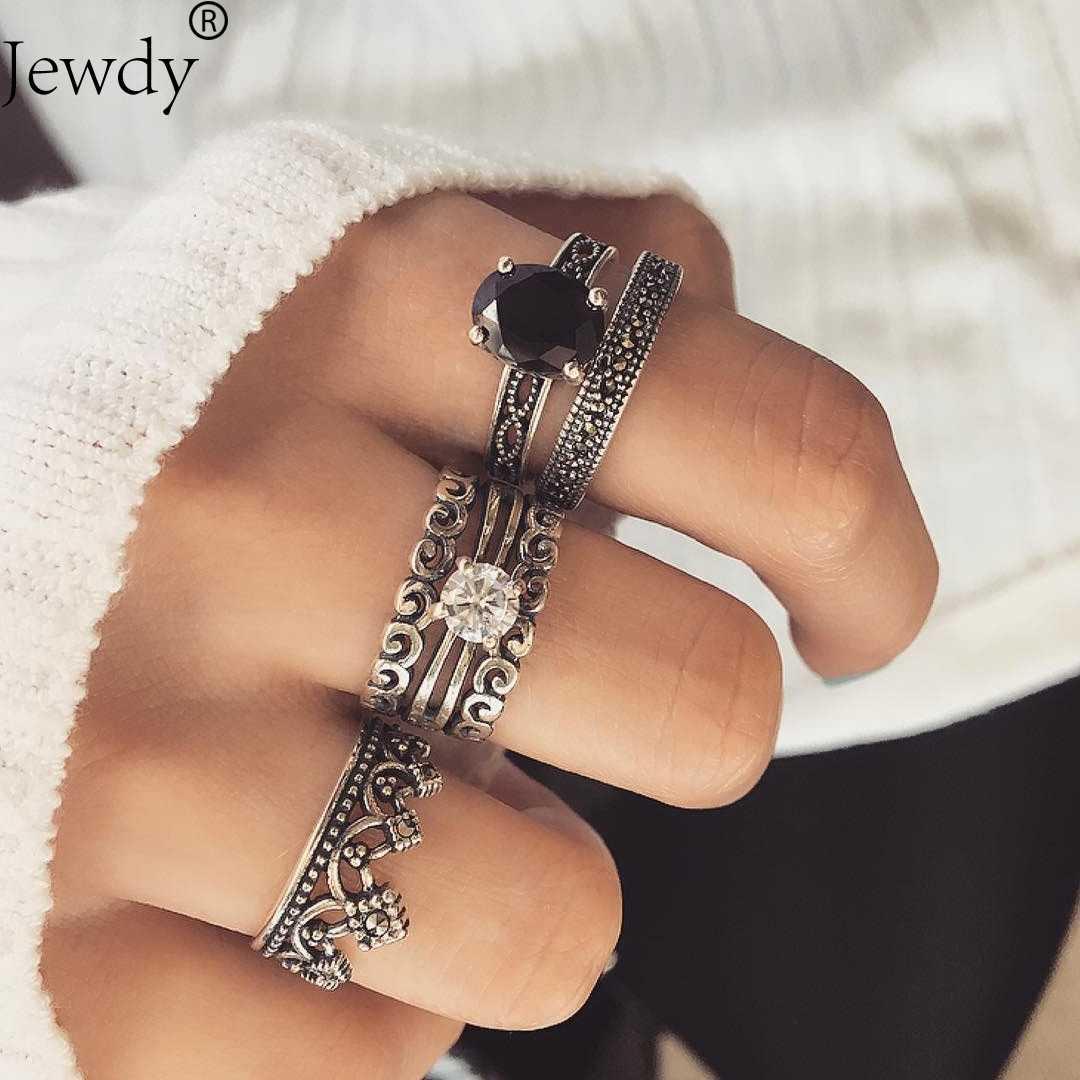 Judeu New Bohemian Onda Do Ramo Da Flor Do Vintage De Cristal Midi Knuckle Ring Finger Set folhas Penas OM Yoga Jóias Presente