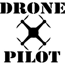 15X13.9CM DRONE PILOT Individualization Car-styling Car Sticker Vinyl Decal Black/Silver S8-0440