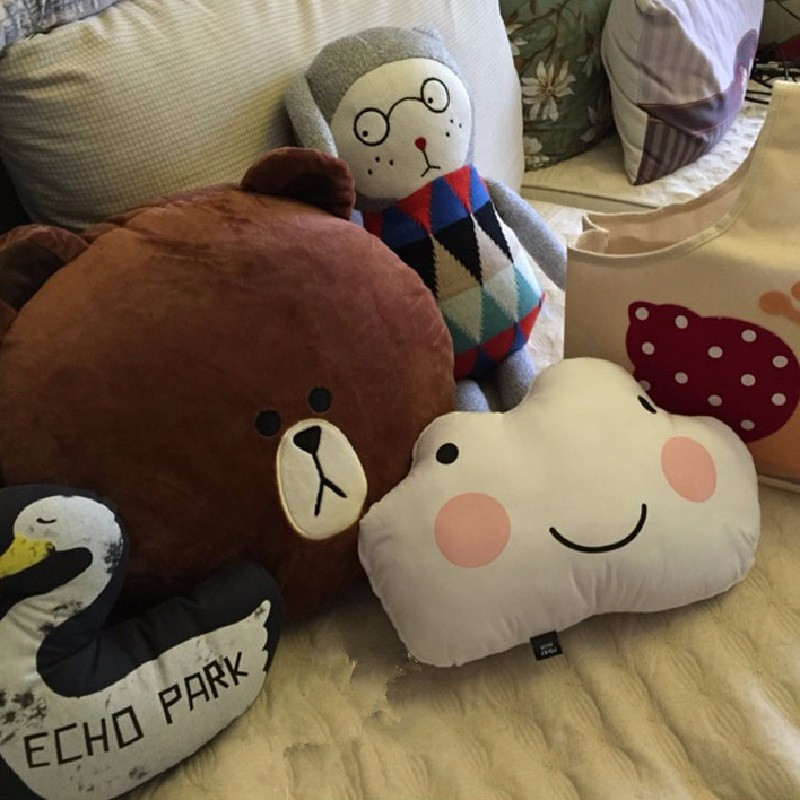 Cartoon Lovely Cloud Smile Face Cushion Pillow Stuffed Cotton Dolls Kids Bed Room Decoration Toys Nordic Style Decor Photo Props