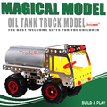 Free shipping Alloy DIY assembly puzzle toys metal fuel tankers toys car assembly model