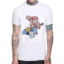 Tshirt 2019 Summer Men Designer Clothing T-shirt Print Rock and Roll Punk Fashion Tees European T Shirt White Tee Shirts