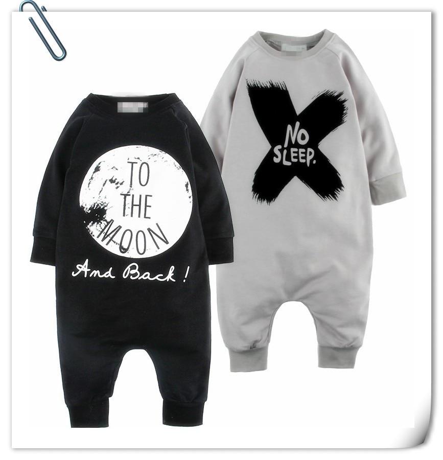 Babybabies Boys&Girls Rompers NO SLEEP Printed Infant Romper For Children Cotton Newborn Jumpsuit Kids Clothing Jumpsuit