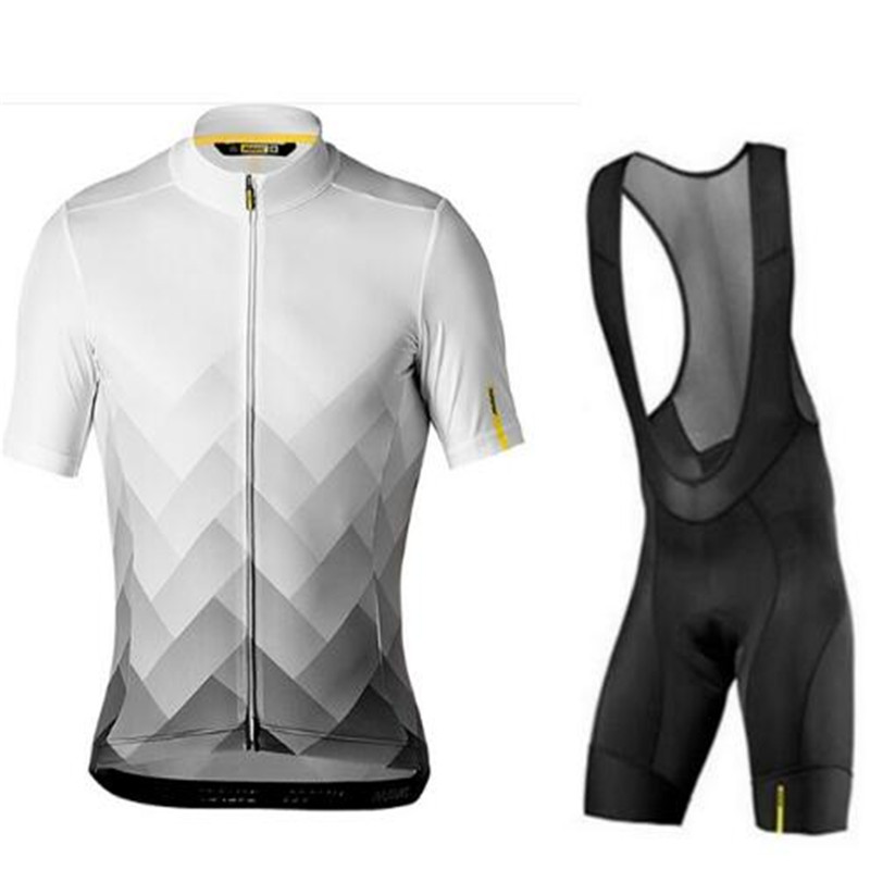 2019 New MAVIC Cycling Jersey Set Summer Men's UCI Tour Team Cycling Clothing MTB Jersey Bib Shorts <font><b>Bike</b></font> <font><b>Wear</b></font> Road 9D Gel Pad image