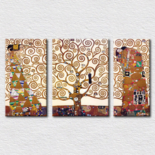 Christmas tree decorations tree of life by Gustav Klimt pictures for modern living room wall canvas painting